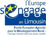 Logo L'Europe s'engage en Limousin FEADER déroulé
